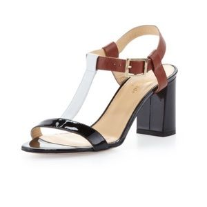 Kate Spade Aisha Color Block T-Strap Sandals